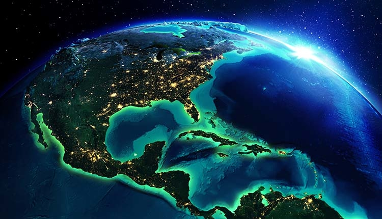 Planet Earth Featuring North American Continent. SMR Group is Recruiting for an Americas Head of Regional Security.